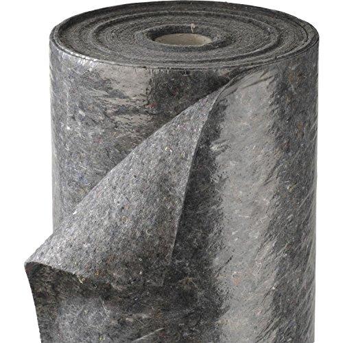 SECOTEC Schutz- und Abdeckvlies 1x 50m | 50 m² | Rolle mit PE-Schicht | grau, rutschfeste Unterlage, Abdeckfolie für den Malerbedarf, Renoviervlies