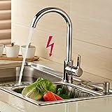 BONADE Elegant Niederdruck Küchenarmatur Einhandmischer Armatur Mischbatterie Wasserhahn für Waschbecken Spüle 360° Drehbar Einhandmischer Mischbatterie für Spüle Küche 3 Jahren Garantie