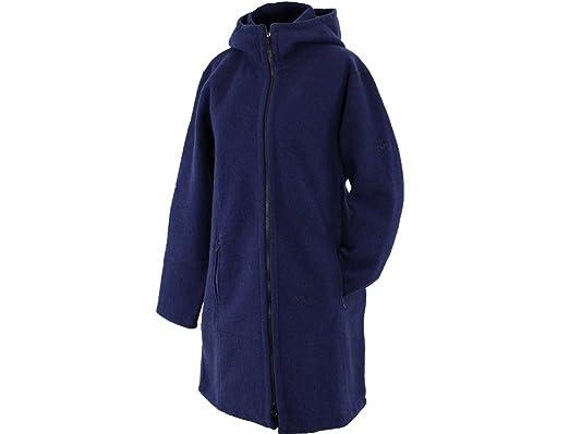 Mufflon Walk Kapuzenjacke aus reiner Schurwolle, nachtblau