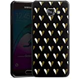 Samsung Galaxy A3 (2016) Housse Étui Protection Coque C½urs Or Motif