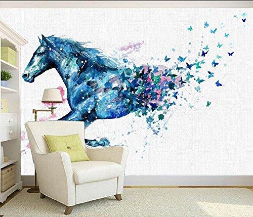 Lqwx 3D Wallpaper Benutzerdefinierte Wandbild Non-Woven 3D Raum Tapete Traum Laufende Pferde In Ölgemälde Foto 3D Wandbilder Tapeten-250Cmx175 Cm (Tropischen Wald Hintergrund)