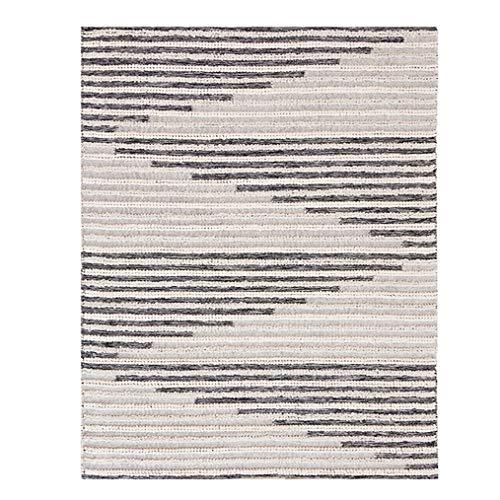 LMXJB Moderner Umkehrbarer Teppich | Reine Hand Gewebte Geometrische Gestreifte Quadratische Mehrfarbenmatte | 100% Bio-Baumwolle | Umweltfreundlicher Teppich FüR Drinnen Und DraußEn,1.4×2m/4.6×6.7ft -