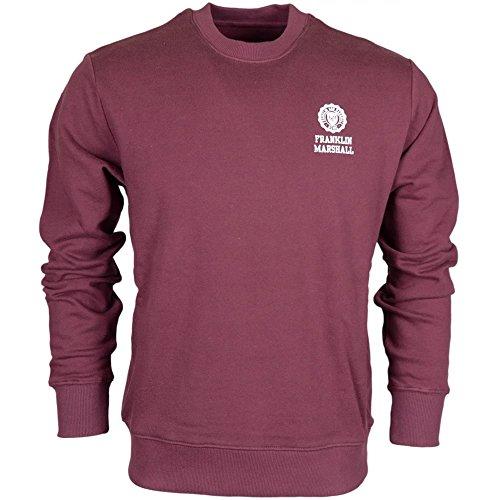 Franklin-Marshall-MF433-Round-Neck-Plain-Vintage-Port-Sweatshirt