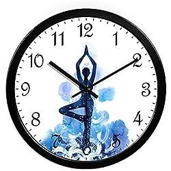 HOMEE Clock-the art of dance training center yoga ballet notas simples relojes creativos modernos,H,14 pulgadas