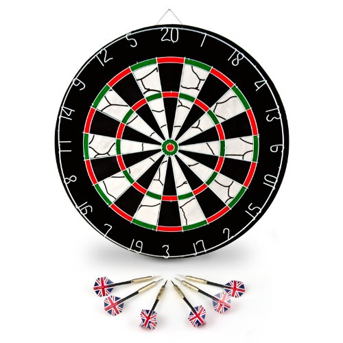 Dart doppio bersaglio tiro a segno gioco delle freccette diametro: 45 cm 6 freccette regalo