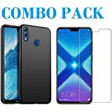 AONIR Tempered Glass & Pudding Back Cover_Combo Pack_ Premium Quality Screen Guard And Soft Case Cover For Huawei Honor 8X
