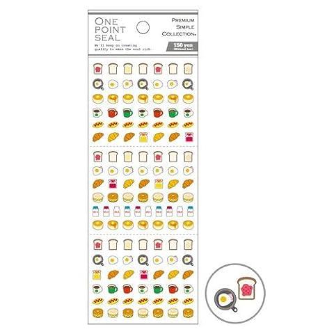 Niedliche Toast Pfannenkuchen Milch Essen Mini-Sticker von Mind Wave