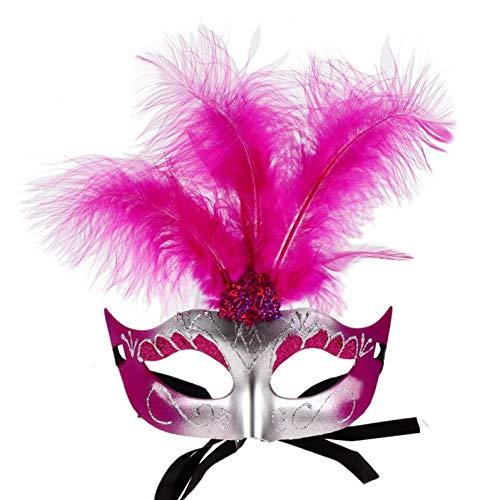 Mädchen Kostüm Halloween Kreative - FLTVSN Halloween-Maske Kreative Feder Maske Halloween Maskerade Maske Für Frauen Mädchen Elegante Pailletten Weihnachtsfeier Maske Kostüme Masque Carnaval