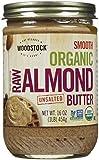 Woodstock Farms - Mantequilla ligeramente tostada orgánica lisa de la almendra sin sal - 16 oz.