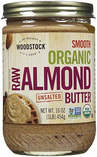 Woodstock Farms - Glatte organische leicht geröstete Mandel-Butter ungesalzen - 16 Unze.