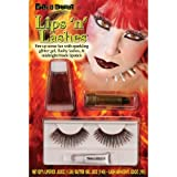 Morris Costumes Lips And Lashes Devil Red