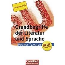 Pocket Teacher - Sekundarstufe I (mit Umschlagklappen): Grundbegriffe der Literatur und Sprache