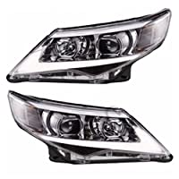 JDMSPEED New Headlight USA LED Halo Projector Headlights Pair Replacement For Toyota Camry 2012 2013 2014