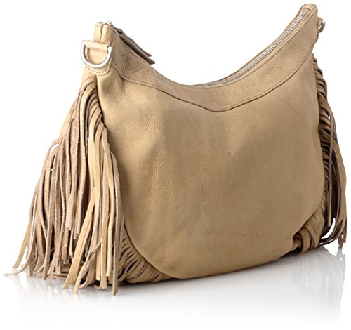AMSTERDAM COWBOYS Damen Bag Elland Schultertaschen, 38x30x10 cm Beige (Sand 230)