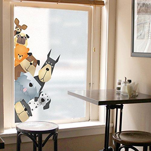 Be&xn Non-verdunkelungsfolie Privatsphäre Fensterfolien Dekorative Sichtschutzfolie Statisch Klammern Glasmalerei Filme Für die küche zu Hause büro Schlafzimmer-P 70x140cm(28x55inch)