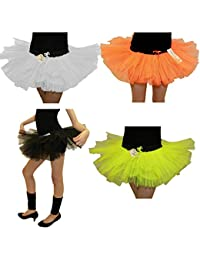 14 Inch Long 3 Layer Full Black Tutu Skirt - size 10 to 16