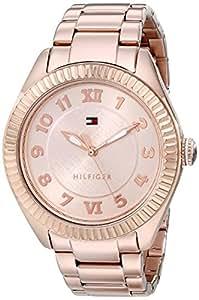 Tommy Hilfiger Women's 1781344 Casual Sport Rose-Gold Coin Edge Bezel Watch