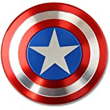 The Anti-Anxiety 360 Spinner Fidget Toy Captain America Marvel Super Heroe Shield Helps Focusing Premium Quality EDC for Kids & Adults Stress Reducer Relieves ADHD Anxiety Boredom Ceramic Cube Bearing