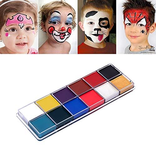 BINGHONG3 BingongongG3 Körper-Gesichtsmalerei Creme, Halloween-Ölfarbe für Kinder, Tanz, Cosplay, Make-up, Pigmentzubehör