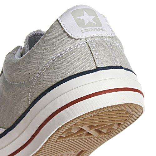 Converse  Star Player Adulte Core Canvas Ox, Chaussures de Gymnastique mixte adulte - Cloud Grey / Ehite