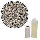 Steinteppich Grigio Bardiglio 2,4m² (25kg Marmorkies + 1,5kg Bindemittel) Epoxidharz Bindemittel, Steinboden, Kiesboden, Kieselboden