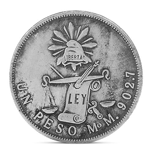 Exing coleccionistas Monedas Moneda, Copia 1872la República México Plata una Peso Eagle Emboss Plating Recuerdo Moneda Moneda Cobre