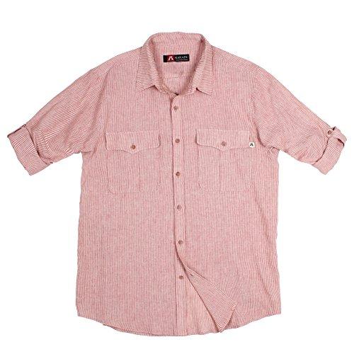 Kakadu Traders Australia Herren Bargo Shirt, Herren, rot, XXXL