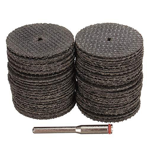 belupai 60pcs 1/8 Zoll Dorn Glasfaser verstärkt Trennscheibe für Dremel (Verstärkte Dremel Trennscheibe)