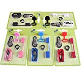 1kit longe de transport Accessoires pour juul, MYLE, stiiizy et cigarette plate NRX, VTV, collier de longe PHIX (Noir)