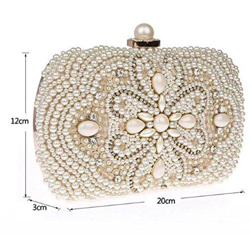 Damen Perlen Perlen Taschen Perlen Taschen Mode Abendtaschen Diamanten Bankett Taschen Handtaschen Black
