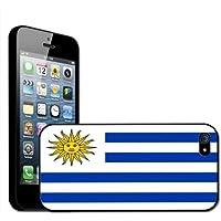 Fancy A Snuggle - Carcasa rígida para iPhone 5, diseño de la bandera de Uruguay