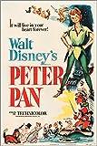 Affiche du film musical « Peter Pan » de Walt Disney (RKO 1953) - Rétro - Pour enfants - 24 x 36 cm