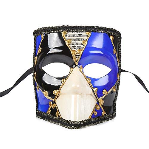 Story of life Das Phantom Der Vintagen Entwurfs-Halben Gesichts-Männer Der Venetianischen Karnevals-Maskerade-Maske Der Oper,Blue
