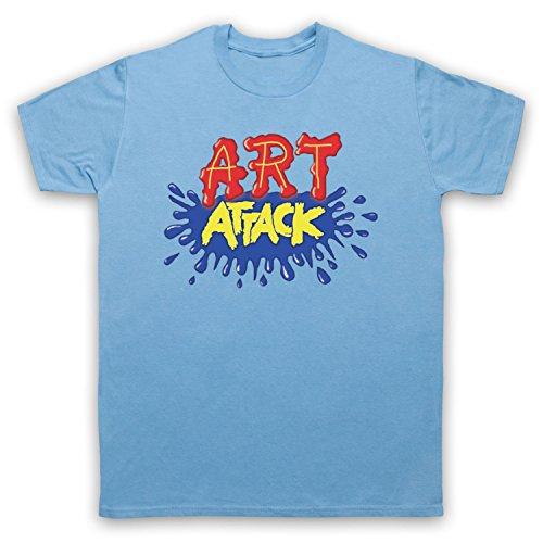 Inspiriert durch Art Attack Logo Unofficial Herren T-Shirt Hellblau
