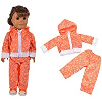 18 Pollici American Girl Doll alla moda leopardo Zippered Hoodie pigiama  vestiti di notte Outfit 18 bbbe5b3c6a09