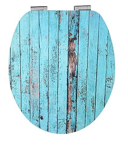 EISL High Gloss WC-Sitz Blue Wood Effekt mit Acryl Beschichtung und Soft Close