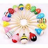 Time4Deals® Los niños del bebé de sonido música regalo niño sonajero Musical madera martillo arena juguetes - 1pcs