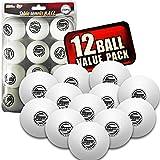 Sportiv Tisch Tennis Ping Pong Bälle, 3-Sterne-40mm Advanced Training Verordnung Bälle 6Stück orange Weiß weiß 12er-Pack