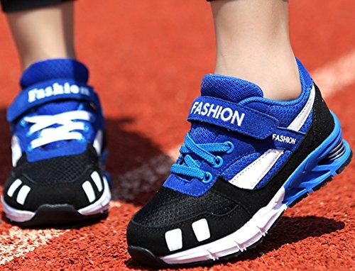 Ao Almofada young Pequenas Ar mesh Sneakers bugel Criança Grossa Azuis Para Odema running Esportes Crianças Preta qw85HWY