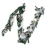 Baoblaze Weihnachtsgirlande Tannengirlande Blumengirlande Deko Girlande für Tür Wand Treppen und Weihnachtsbaum - Weiß