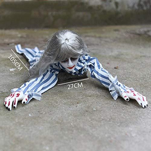 Dämon Kostüm Puppe - WSJDE Halloween Elektro Krabbeltiere Knifflige Requisiten Böse leuchtende Puppen Spukhaus Dämon Dekoration Horror Gruselige Angst Baby GeisterStreifen