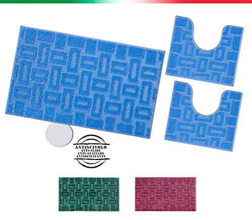 tappeto-bagno-parure-set-3-pezzi-fondo-antiscivolo-shaggy-moderno-bordato-made-in-italy-mod-moorea-v