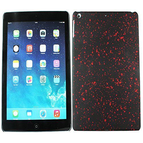 Heartly Night Sky Glitter Star 3D Printed Design Retro Color Armor Hard Bumper Back Case Cover For Apple iPad Air Tablet (iPad 5) - Hot Red  available at amazon for Rs.109