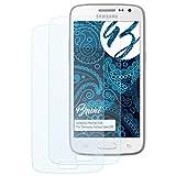 Bruni Schutzfolie für Samsung Galaxy Core LTE Folie - 2 x glasklare Displayschutzfolie