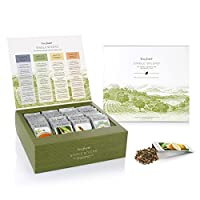 Tea Forté SINGLE STEEPS Loose Leaf TEA CHEST, 28 Different Single Serve Pouches - Black Tea, Green Tea, White Tea, Herbal Tea