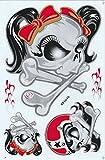 Rockabilly Skull Girl Aufkleber / Sticker / Aufkleberbogen 5-teilig
