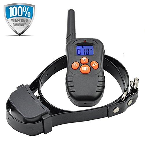 Dogwell DW87N 200 Meter Ton-und Vibrations-Erziehungshalsband Funktrainer Anti Bell- Erziehungshalsband für 1 Hund mit Fernbedienung, Wiederaufladbar und Wasserdicht