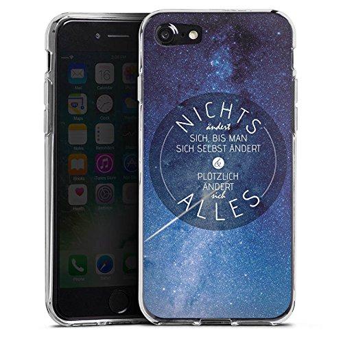 Apple iPhone X Silikon Hülle Case Schutzhülle Leben Motivation Weisheit Silikon Case transparent