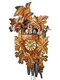 Schwarzwald-coucou/heures (certifiés), 1-jour-usine, mécanique, musique, tanzfiguren 39 cm-érable - 5 feuilles (feuilles) et 1 horloge kuckuksuhr kukuks-oiseau