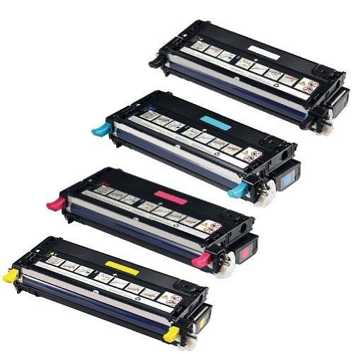 kompatible Tonerkartuschen für XEROX Phaser 6180 6180DN 6180MFP 6180N - Toner Set (alle 4 Farben) Black, Cyan, Magenta, Yellow 113R00726 113R00723 113R00724 113R00725 (Xerox Toner Farbe)